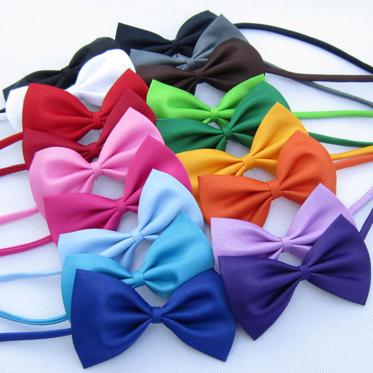 Lowest Price!!! Solid Color Girls Boys Kids Fashion Bowtie Bow Tie For Men Women Candy Cravat Pet Dog Cat Butterfly FreeShipping(China (Mainland))