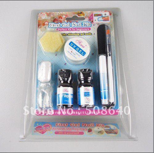 Freeshipping 10 in 1 MINI Top Coat  Brush File Nail Art Phototherapy Kit UV GEL Set For Fashion Salon Nail Beauty Desgin 317