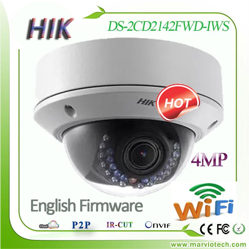 4MP mega pixel full 1080P wi fi IP camera wireless DS-2CD2142FWD-IWS Alarm / Audio/POE wi-fi ip cam outdoor CCTV security system<br><br>Aliexpress