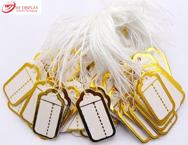 WJ-1295 200PCS Strings Display White and Gold Pack Paper Price Tags Price Lables For Jewelry Store Accessories Necessity Tools<br><br>Aliexpress
