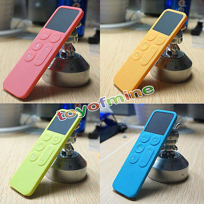5Pcs Colorful Silicone Protective Dustproof Case Silicone Cover For Apple TV 4 Remote Control Holder EX(China (Mainland))