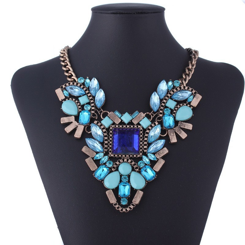 statement necklace 2014 chain multi-layer resin collar necklace jewelry couture Wholesale free shipping(China (Mainland))