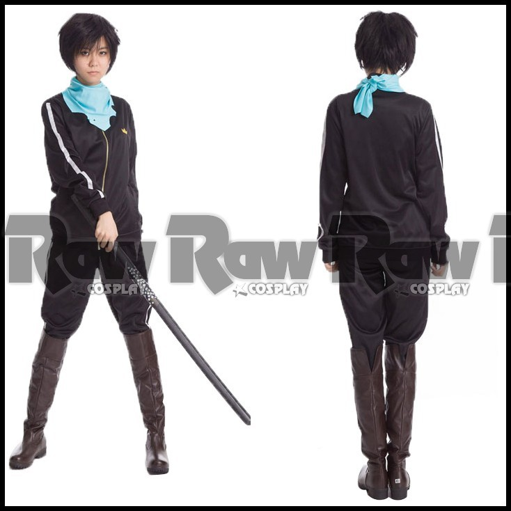 Anime Noragami Cosplay Costume yato Sport Clothes Suit Men women Daily sportwear Coat Jacket Pants set in stock RAW0197(China (Mainland))