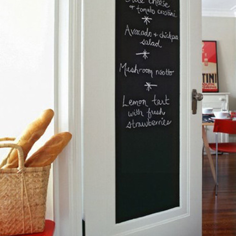 Chalk Board Blackboard Stickers Removable Vinyl Draw Decor Mural Decals Art Chalkboard Wall Sticker For Kids Rooms ACLQT003(China (Mainland))