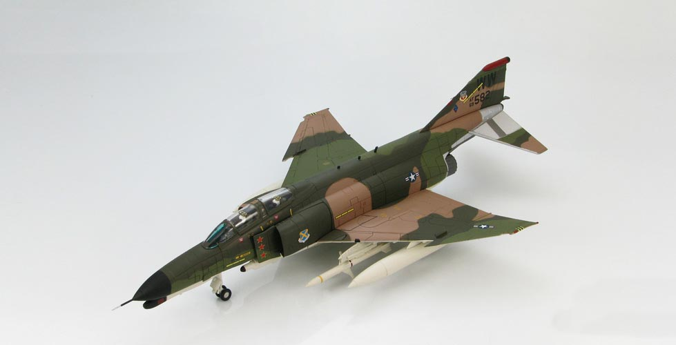 HOBBY MASTER 1:72 US Air Force 37th Wing F-4G Phantom fighter model alloy WildWeasel HA1981<br>
