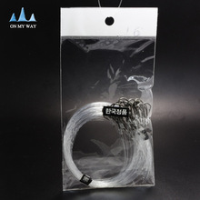 High carbon steel 25pcs  Fishing Hook with fishing line 8-16# Barbed Hooks Pesca Tackle Accessories