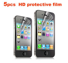 High Quality 5PCS 2.5D 0.26mm HD Protective Film for iphone 4s Clear lcd Front Screen Protector for iphone 4 With Retail Package