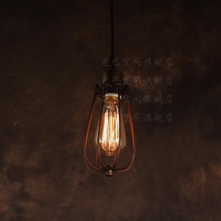 Купить Американский чердак подвесной светильник небольшой железные клетки подвесной светильник лампа железа лампы