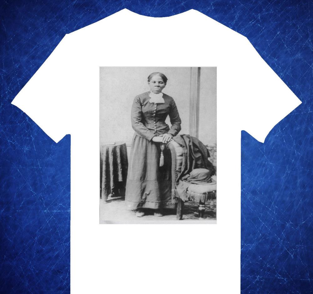 2015 Free Shipping Harriet Tubman African Black History Railroad O Neck White Short Sleeve camiseta Unisex t shirt Men camisetas(China (Mainland))