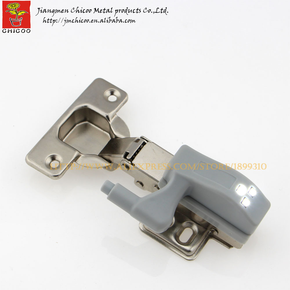 Full overlay furniture hinge with 0.25W led cabinet light kitchen Living room cabinet hinges(China (Mainland))