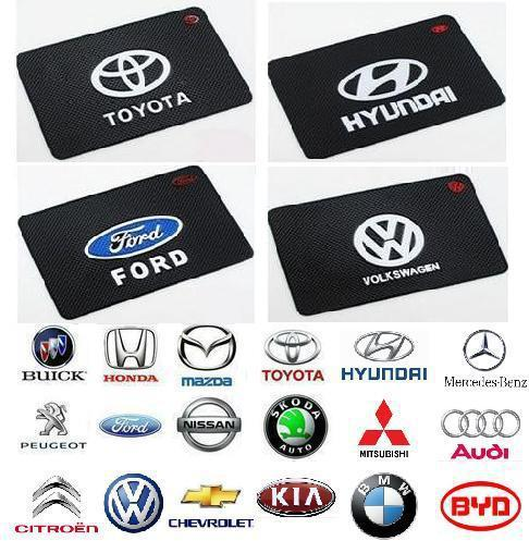 Free Shipping Big Size Powerful Silica Gel Magic Sticky Pad Anti-Slip Non Slip Mat with Car Logo for Phone PDA mp3/4(China (Mainland))