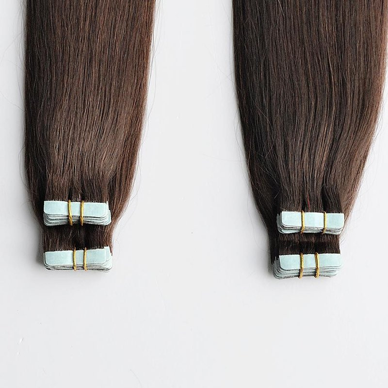 100% Indian Remy Double Drawn Tape in strong blue lace double adhesive tape in Hair 50g 100g Black Brown Blonde Hair