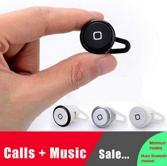 Universal Super Mini Wireless Bluetooth Stereo Bluetooth Headset earphone for iPhone4/4s iPhone5 Apple Samsung free shipping(China (Mainland))