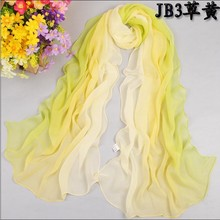 1PC Hot Fashion Shawl Scarf Chiffon Glitter Ombre Hijab Neck Warmer Silk Scarf Women Girls Cape 50*160 Long Headband Q5A16007(China (Mainland))