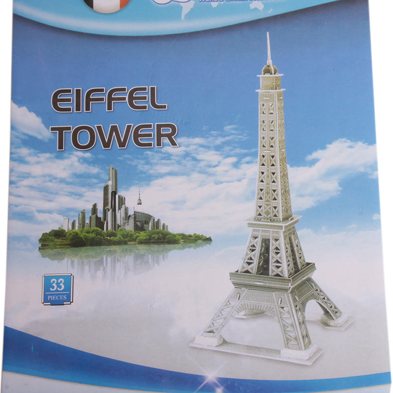3D puzzle jigsaw Baby toys Eiffel tower Carousel three-dimensional jigsaw puzzles Educational DIY kids toy(China (Mainland))