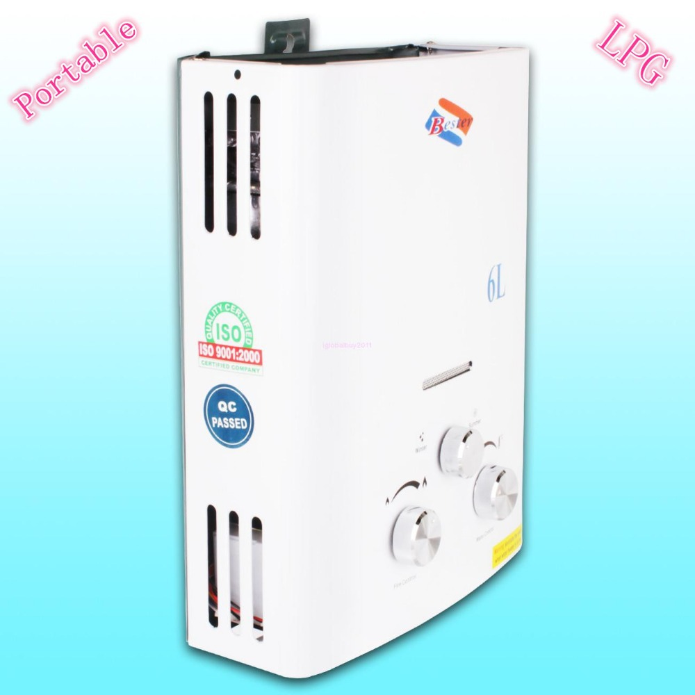 Portable Instant Hot Water : Portable l gas lpg propane tankless instant hot water