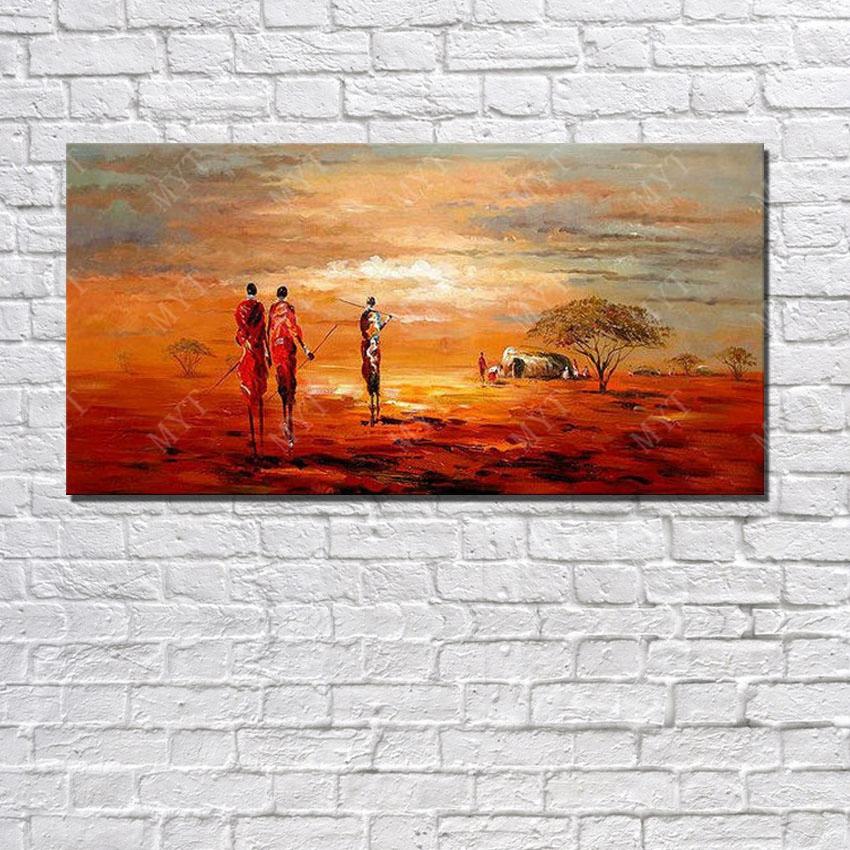 Peintures l 39 huile sur vente promotion achetez des for Peinture moderne sur toile
