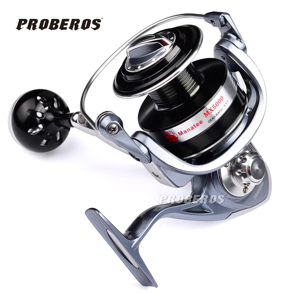 PROBEROS Full Metal Fishing Reel Ocean Boat Fishing Aluminum+Stainless Steel 5.5:1 Spinning Reel 13BB Japan imports MX3000-9000(China (Mainland))