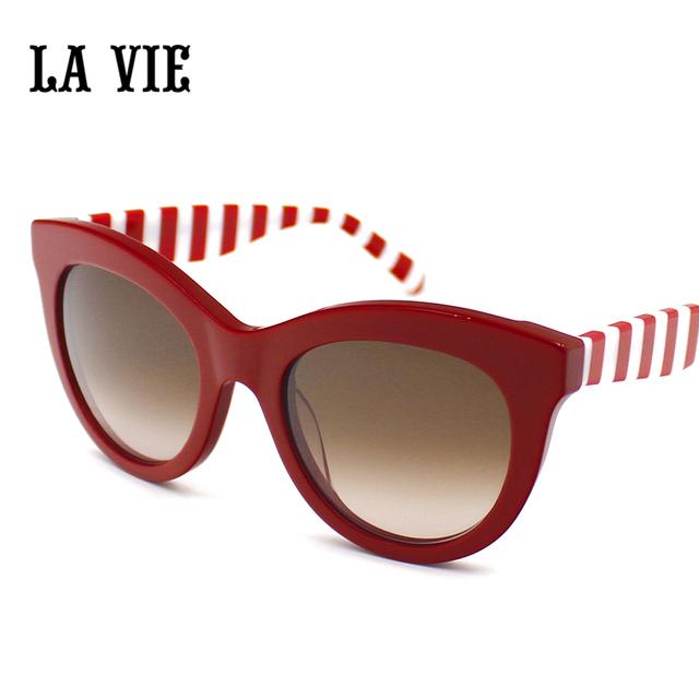 LA VIE Детская Мода Кошачий Глаз Очки Очки Классический Ретро Очки UV400 Мальчик Девушки Милые Покрытие Солнцезащитные Очки LVSA010