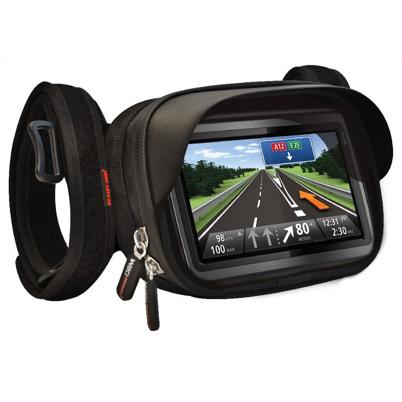 """So Easy Rider waterproof GPS Pouch,holder, case for 4.3"""" to 5"""" GPS like TOMTOM, Magellan GPS to tie on motorcycle(China (Mainland))"""
