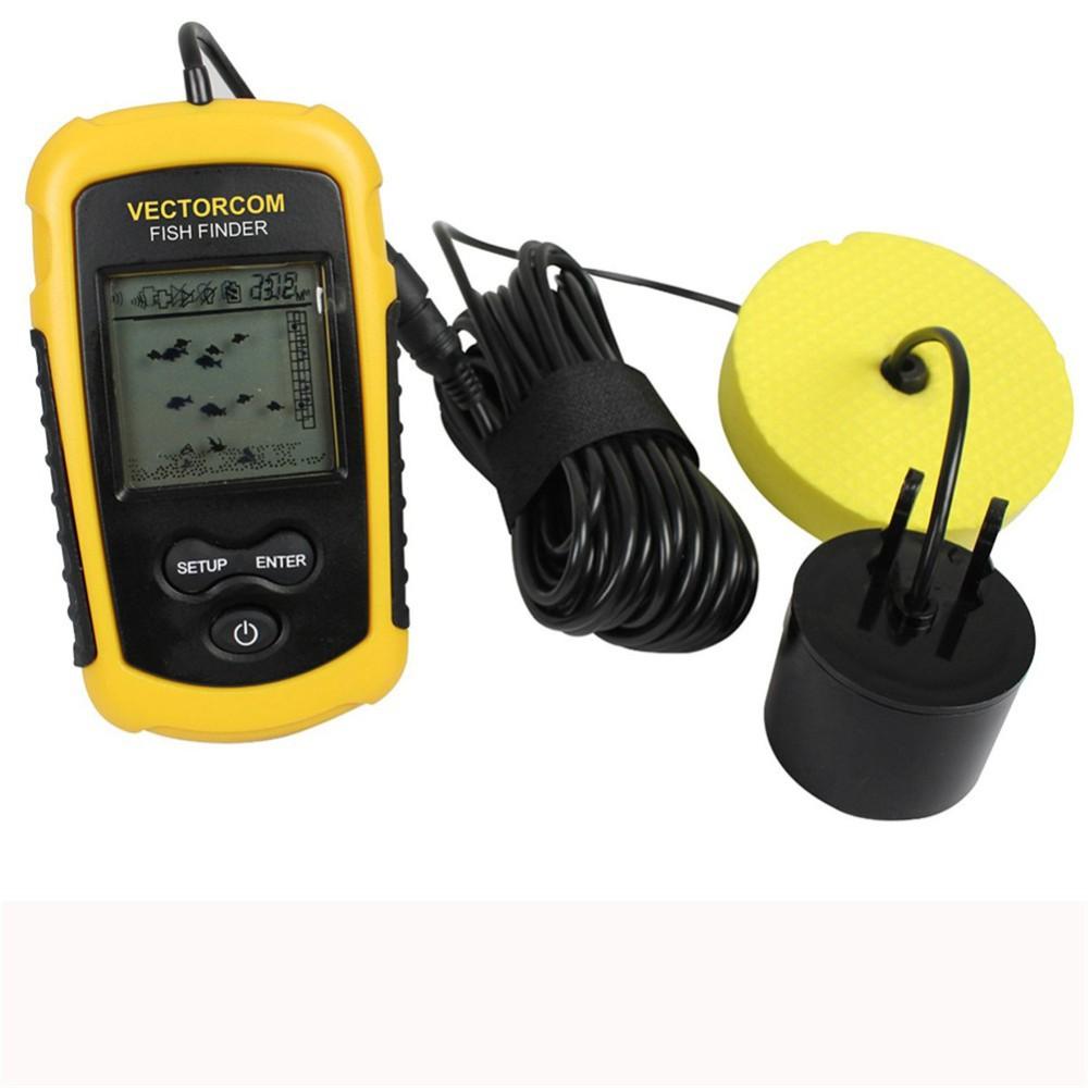 Wireless fish finder depth sonar sounder alarm transducer for Wifi fish finder