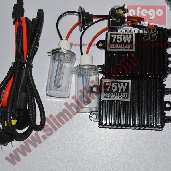 1 set FREE SHIPPING hid xenon kit 75w H1 H3 H7 H8 H9 H11 9006 xenon h1 75w 6000K 8000K xenon h7 75w car headlight