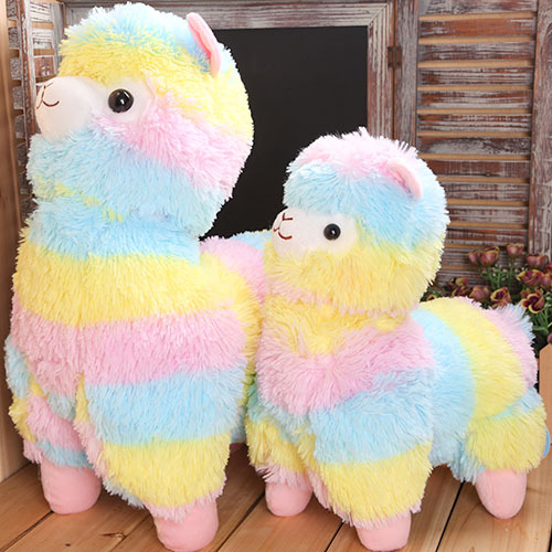 2016 35-45cm Rainbow Alpaca Plush Toy Japanese Soft Plush Alpacasso Baby 100% Plush Stuffed Animals Alpaca Gifts #10(China (Mainland))