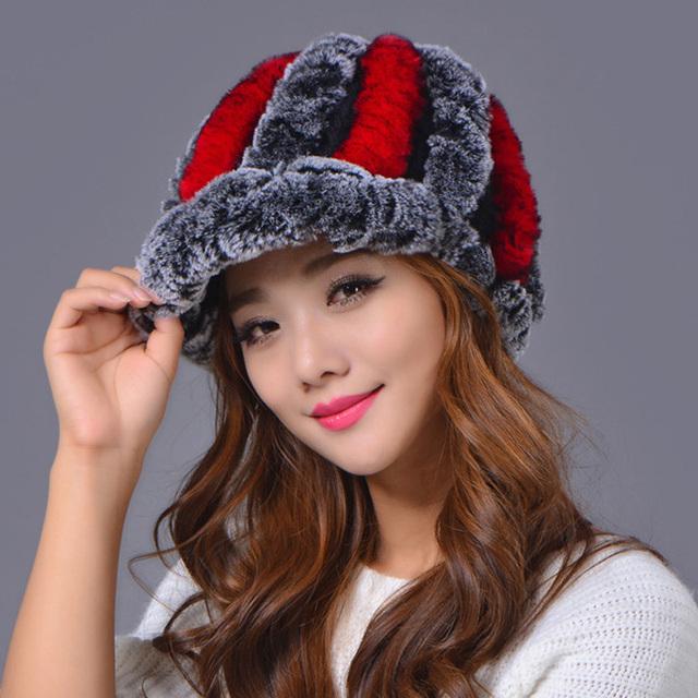 Новые зимние шапки для женщины меховая шапка толстые шапочки меховые шапки Z-1357