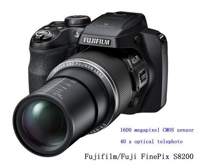 Original Fujifilm <font><b>Fuji</b></font> FinePix S8200 SLR digital camera 40 optical zoom 16.2 million pixel HD video 1080p 3.0-inch LCD screen