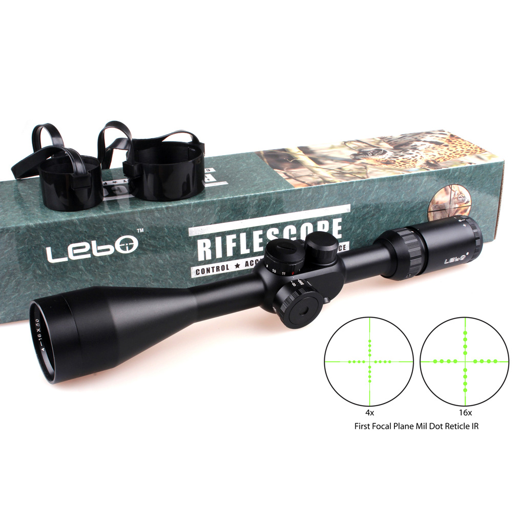 Tactical LEBO TC 4-16X50 IR First Focal Plane Side Parallax Mil-dot Rifle Hunting Shooting Scopes<br><br>Aliexpress