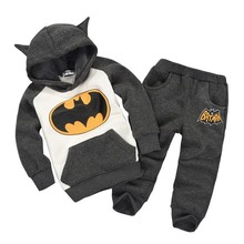 new 2015 autumn style children clothing set kids clothes baby boy clothes fleece warm hoodies and pants set baby girl clothes(China (Mainland))