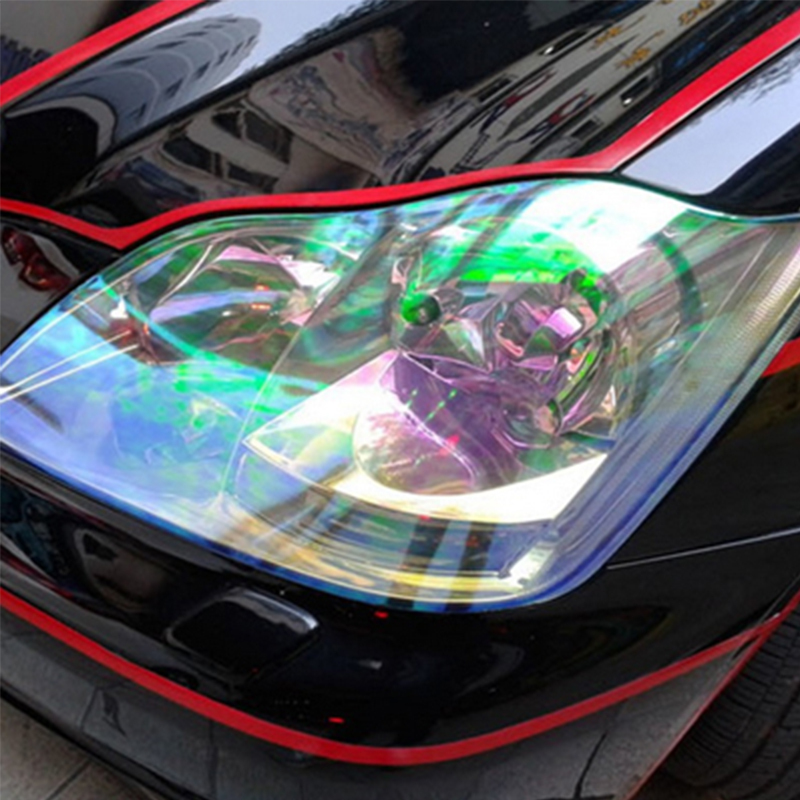 2015 New Arrival 60 30cm Roll Shiny Cool Chameleon Car Sticker Motorcycle Car Styling Headlights Taillights