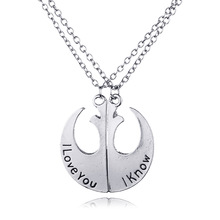 "Star Wars Love Pendants Set ""I love you I know"" New Collection  I Love You Valentine"