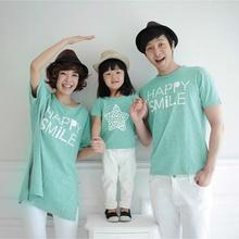 summer family look mother and daughter clothes father kids boys T shirts mom and me couple tee X large for women korea fashion