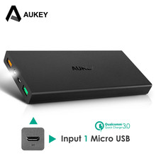 Buy AUKEY 16000mAh Quick Charge 3.0 Power Bank Dual USB Portable External Battery Fast Mobile Charger Xiaomi Meizu iPhone for $29.46 in AliExpress store