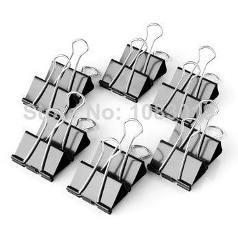 96pcs/lot 32mm 9543 Black Metal Documents Binder Clips/Memo Clip iron binder clips iron purse dovetail Large metal paper clips<br><br>Aliexpress