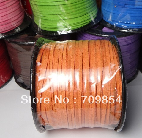 free shipping!!! new 100yard/roll 5mm geunine suede Leather Cord (can be chosen color )