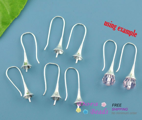 5 Pairs SP Morning Glory/Flower Ear Wire Hooks 29x12mm (B07493)<br><br>Aliexpress
