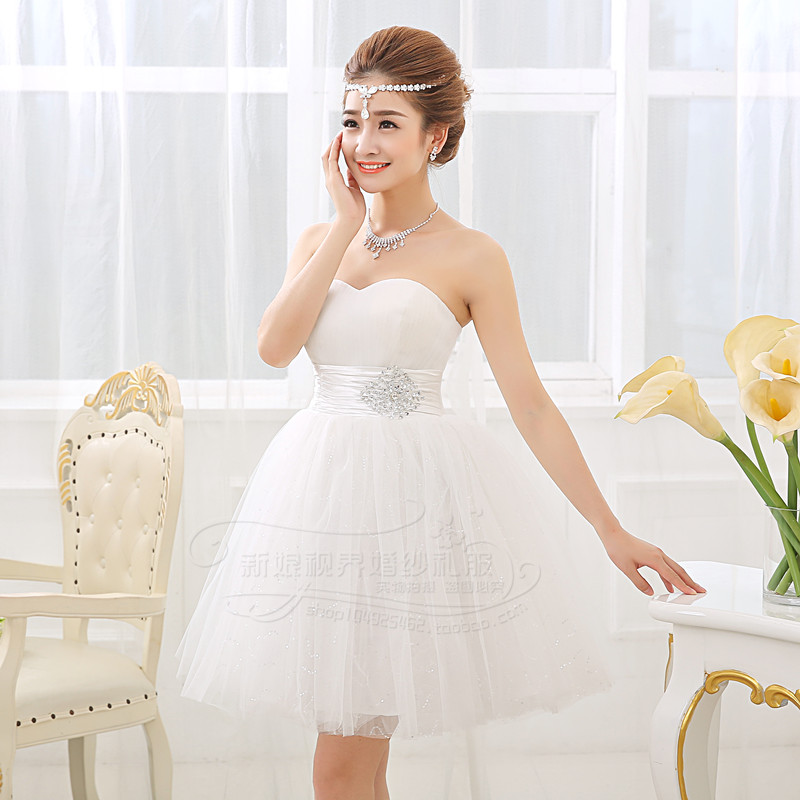 White short cheap wedding dress 2015 women fashion for Cute short white wedding dresses