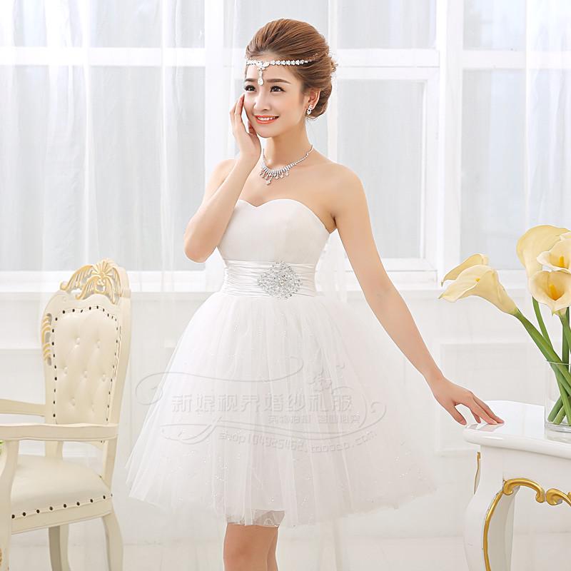 White short cheap wedding dress 2015 women fashion for Cheap short white wedding dresses
