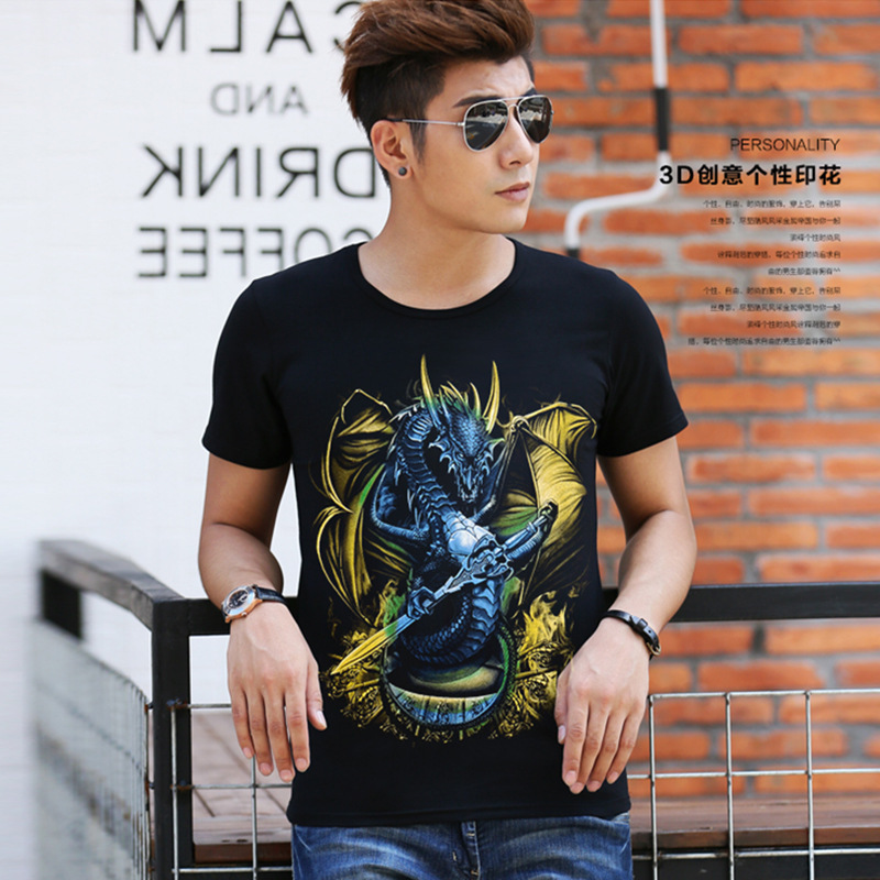 2016 Special Offer Rushed Fashion Cotton O-neck Print No Broadcloth Summer Men's Short Sleeves T-shirt(China (Mainland))