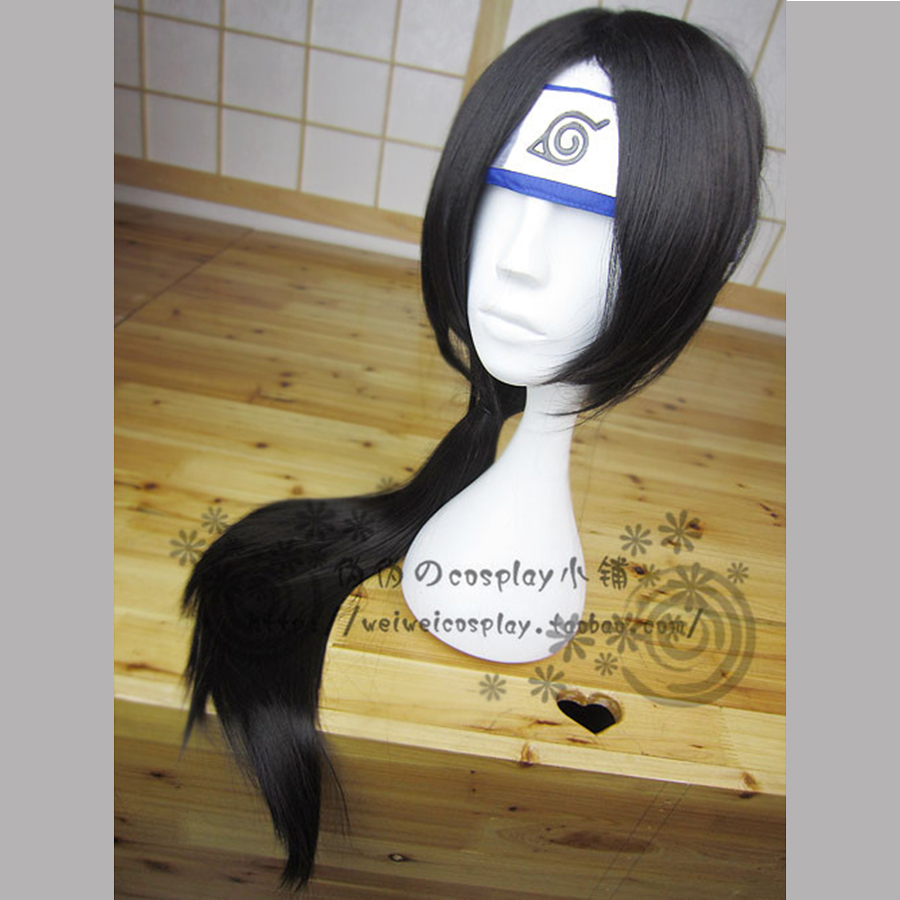 Axis Powers Hetalia APH Long Black Cosplay Wig Wang Yao 65CM Halloween Party Hair Synthetic Ponytail