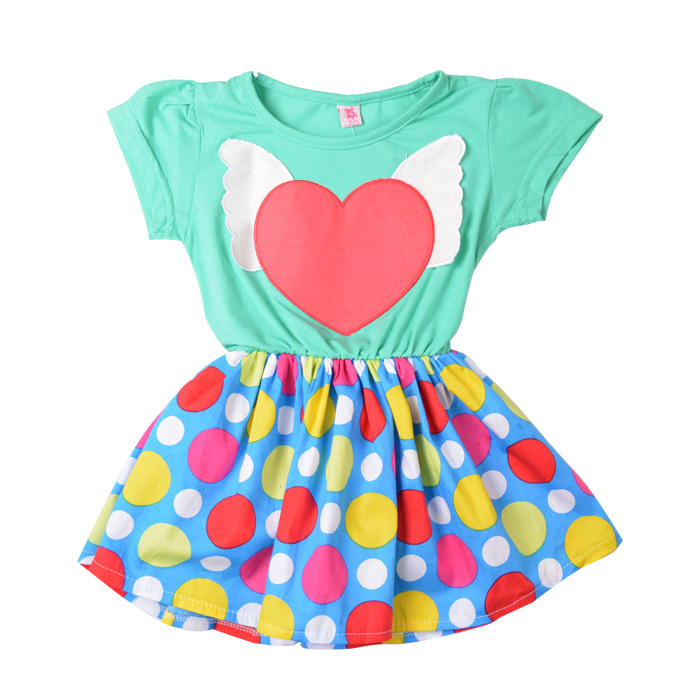 New Lolita Style Style Kids Summer Dresses for Girls Big Dot Dress, Free Shipping A1991(China (Mainland))