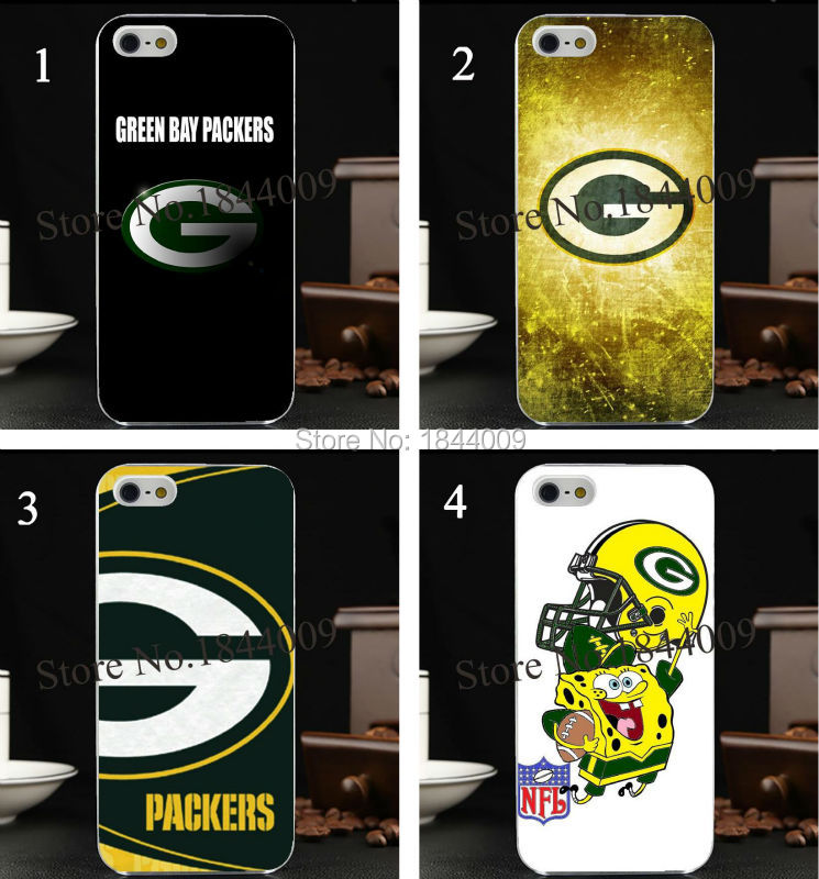 nfl The green bay packers Style Hard Skin Transparent Cover Case for iphone 5 5s 4 4S 5c(China (Mainland))