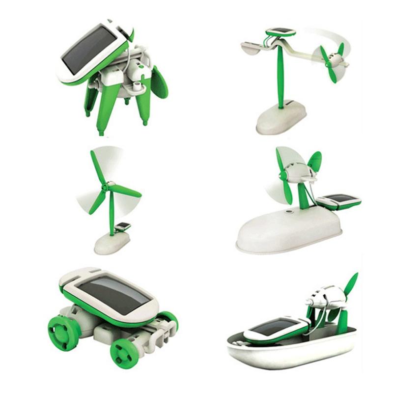 Miniaturas De Carros Gadgets New 6 In 1 Solar Power Diy Educational Kit Kids Toy Boat Fan Car Robot Toys & Hobbies Accessories(China (Mainland))