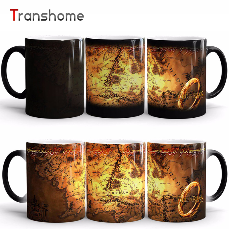Coffee Cup The Lord Of Rings Ceramic Heat Sensitive Color Changing Mug Magic Cups And Mugs For Gift Free Shipping Transhome(China (Mainland))