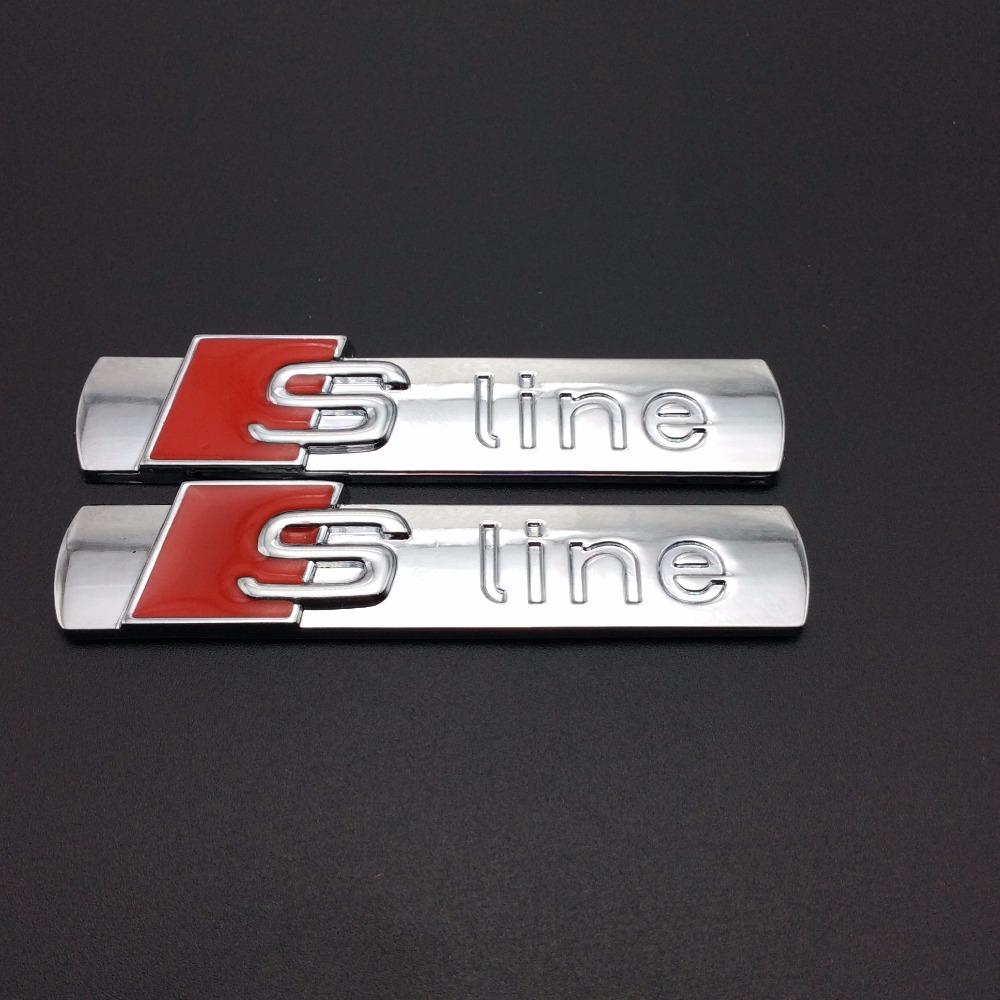 Auto parts car styling Car side Emblem S-LINE Modified Car Stickers For audi AUDI A2 A3 A4 A6 A6L A8 A7 TT Q3 Q5 Q7 RS3 RS5 RS7(China (Mainland))