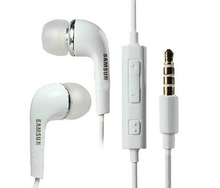 DHL 100pcs Brand new 3.5mm Stereo Headset Headphone Earphone With Volume&Mic for Samsung Galaxy S2 S3 S4 S5 Note 2 3 4