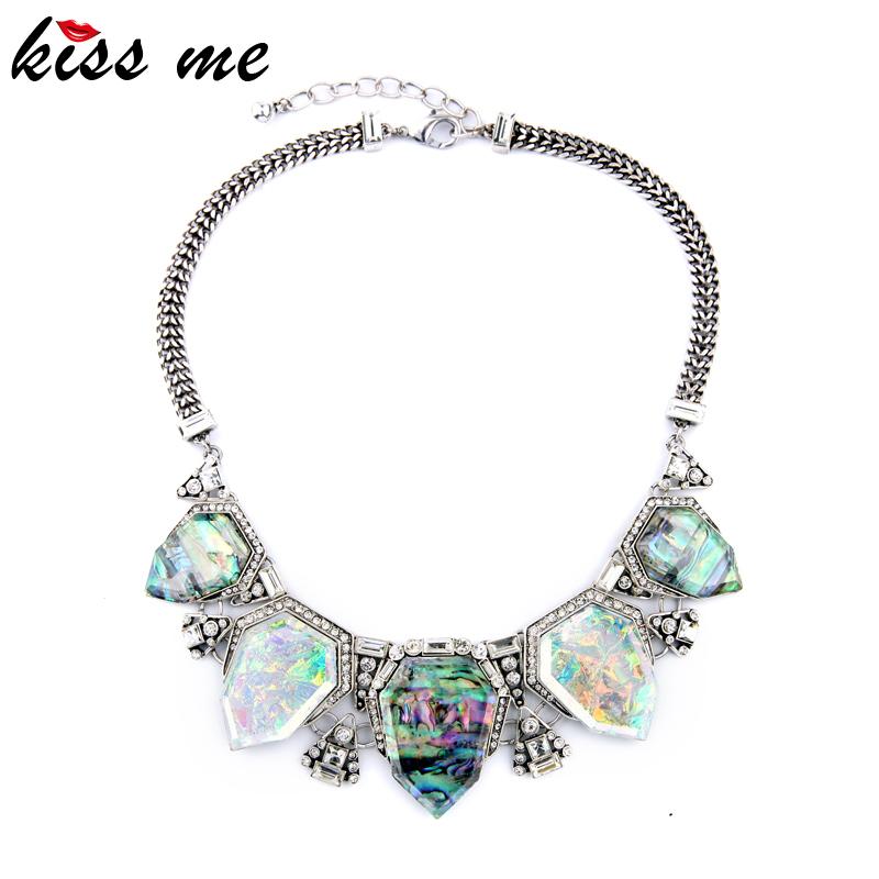 exaggreated luxury designer jewelry geometric artificial gems pendants