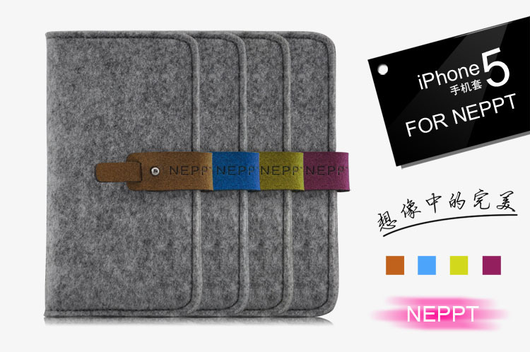 2015 New felt Stand Wallet Case Cover For iPhone 5G 5S 5 Flower Phone Cases With Card Slot(China (Mainland))